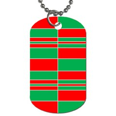 Christmas Colors Red Green Dog Tag (Two Sides)
