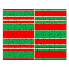 Christmas Colors Red Green Rectangular Jigsaw Puzzl