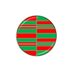 Christmas Colors Red Green Hat Clip Ball Marker (10 pack)