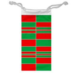 Christmas Colors Red Green Jewelry Bag