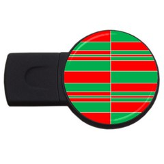 Christmas Colors Red Green USB Flash Drive Round (4 GB)