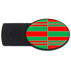 Christmas Colors Red Green USB Flash Drive Oval (4 GB)