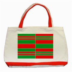 Christmas Colors Red Green Classic Tote Bag (Red)