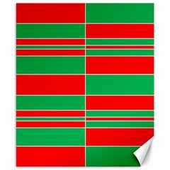 Christmas Colors Red Green Canvas 8  x 10