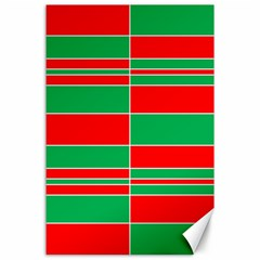 Christmas Colors Red Green Canvas 24  x 36