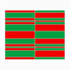 Christmas Colors Red Green Small Glasses Cloth (2-Side)