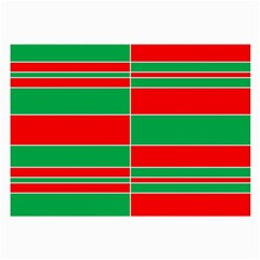 Christmas Colors Red Green Large Glasses Cloth