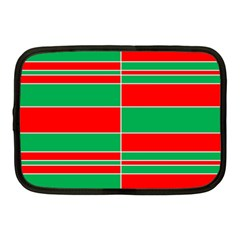 Christmas Colors Red Green Netbook Case (Medium)