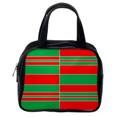 Christmas Colors Red Green Classic Handbags (One Side)