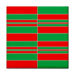 Christmas Colors Red Green Face Towel