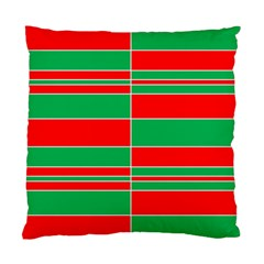Christmas Colors Red Green Standard Cushion Case (Two Sides)