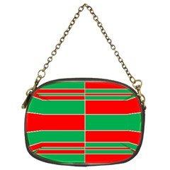Christmas Colors Red Green Chain Purses (Two Sides)