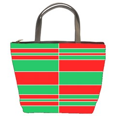 Christmas Colors Red Green Bucket Bags