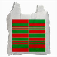Christmas Colors Red Green Recycle Bag (Two Side)