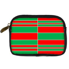 Christmas Colors Red Green Digital Camera Cases