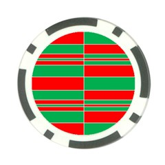 Christmas Colors Red Green Poker Chip Card Guard (10 pack)