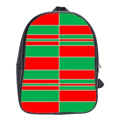 Christmas Colors Red Green School Bags(Large)