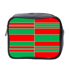 Christmas Colors Red Green Mini Toiletries Bag 2-Side