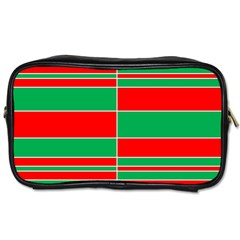 Christmas Colors Red Green Toiletries Bags 2-Side