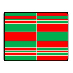Christmas Colors Red Green Fleece Blanket (Small)