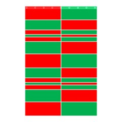 Christmas Colors Red Green Shower Curtain 48  x 72  (Small)