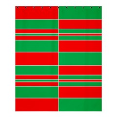 Christmas Colors Red Green Shower Curtain 60  x 72  (Medium)