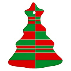 Christmas Colors Red Green Ornament (Christmas Tree)