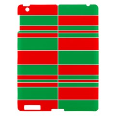 Christmas Colors Red Green Apple iPad 3/4 Hardshell Case