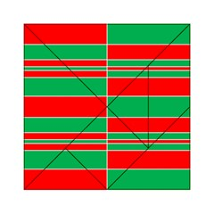 Christmas Colors Red Green Acrylic Tangram Puzzle (6  x 6 )