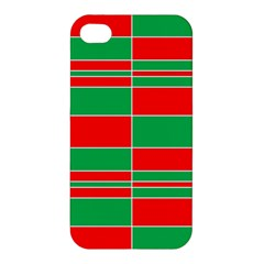 Christmas Colors Red Green Apple iPhone 4/4S Premium Hardshell Case