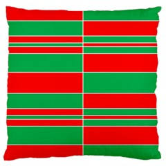 Christmas Colors Red Green Large Cushion Case (Two Sides)