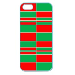 Christmas Colors Red Green Apple Seamless iPhone 5 Case (Color)