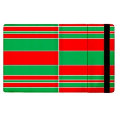 Christmas Colors Red Green Apple iPad 3/4 Flip Case