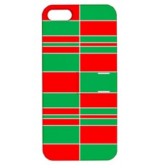 Christmas Colors Red Green Apple Iphone 5 Hardshell Case With Stand