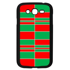 Christmas Colors Red Green Samsung Galaxy Grand DUOS I9082 Case (Black)