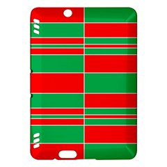 Christmas Colors Red Green Kindle Fire Hdx Hardshell Case