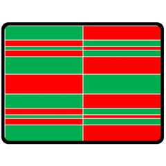 Christmas Colors Red Green Double Sided Fleece Blanket (Large)
