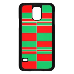Christmas Colors Red Green Samsung Galaxy S5 Case (Black)