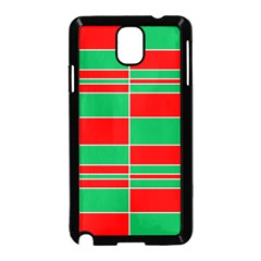 Christmas Colors Red Green Samsung Galaxy Note 3 Neo Hardshell Case (Black)