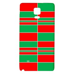 Christmas Colors Red Green Galaxy Note 4 Back Case
