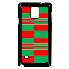 Christmas Colors Red Green Samsung Galaxy Note 4 Case (Black)
