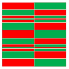Christmas Colors Red Green Large Satin Scarf (Square)