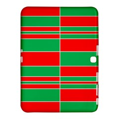 Christmas Colors Red Green Samsung Galaxy Tab 4 (10.1 ) Hardshell Case