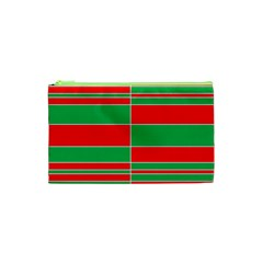 Christmas Colors Red Green Cosmetic Bag (XS)