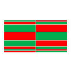 Christmas Colors Red Green Satin Wrap