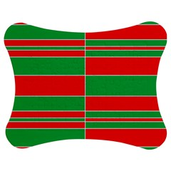 Christmas Colors Red Green Jigsaw Puzzle Photo Stand (Bow)