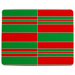 Christmas Colors Red Green Jigsaw Puzzle Photo Stand (Rectangular)