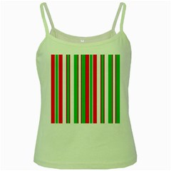 Christmas Holiday Stripes Red green,white Green Spaghetti Tank
