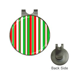 Christmas Holiday Stripes Red green,white Hat Clips with Golf Markers