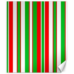 Christmas Holiday Stripes Red green,white Canvas 20  x 24